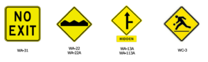 Guelph warning traffic signs