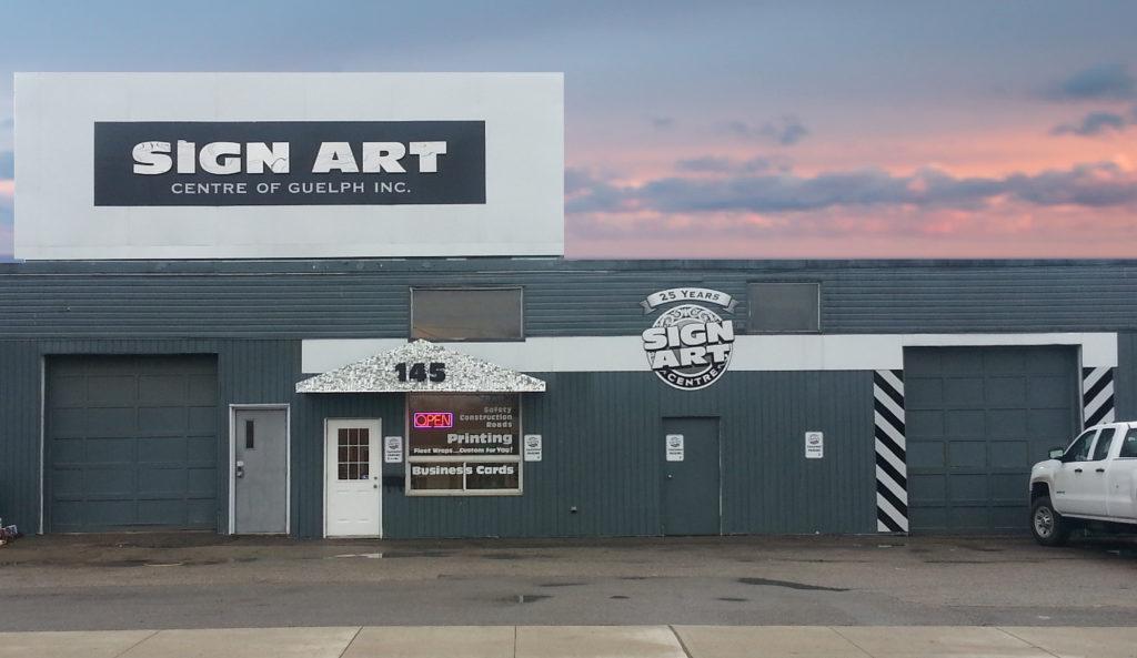 Sign art Centre of Guelph