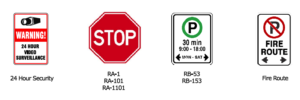 Guelph regulatory traffic signs