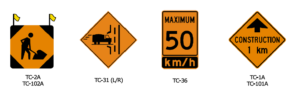 Guelph Temporary traffic signs