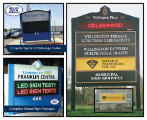 LED Leaderboard, Lit Pylon & Lawn Signs, Installations