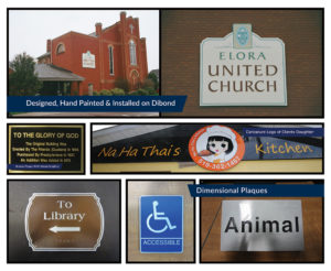 Church Signs, 3D and Cast Plaques